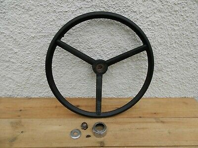 Ford Tractor 3000 5000 Steering Wheel + Centre Nut Etc - Complete ~ Free UK Post