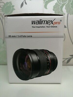 WALIMEX PRO 85mm F1.4 Manual Lens Prime SONY FE Full Frame a7 series