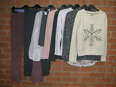 NEXT M&S GAP RIVER ISLAND etc Girls Bundle Jumpers Jeans Skirts Age 11-12