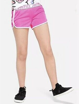 Justice Girls Mesh Fold-over Shorts NWT Pink//Blue//Black//Purple//Grey Many Sizes
