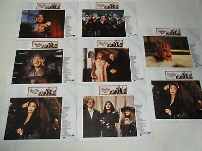 'ADDAMS FAMILY VALUES' 1993 Original Lobby Cards - Anjelica Huston & Raul Julia