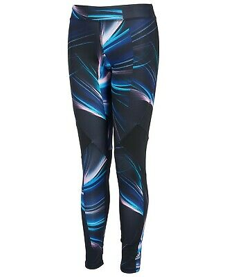 Adidas Girls' Performance Tight Legging Purple Print Climalite size L (14) AP22