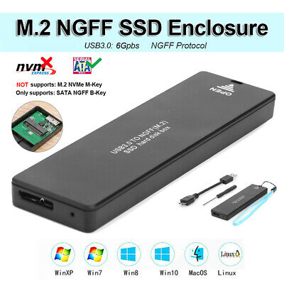 6Gbps M.2 NGFF SSD to USB3.0 External HDD SSD Hard Disk Drive Enclosure Case Box