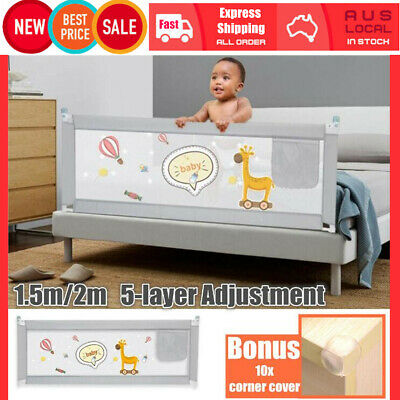 1.5M 2M Kids Child Bedguard Toddler Safety Bed Rail Guard Folding Protection