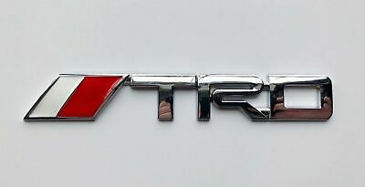 TRD Chrome Emblem Decal Badge Trunk For Toyota 3D Metal Logo 1 x 6