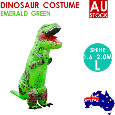 Inflatable Dinosaur Suit Adult Christmas Costume T-REX Jurassic Fancy Dress