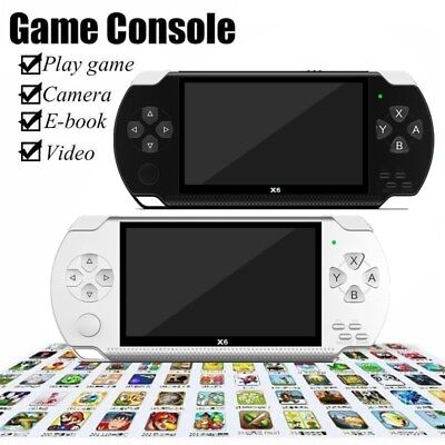 """X6 8G 32Bit 4.3"""" PSP Portable Handheld Classic Game Console Player Video MP4"""