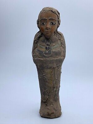 Ancient EGYPT EGYPTIAN STATUE ANTIQUES Shabti Ushabti Mummy Carved STONE BC