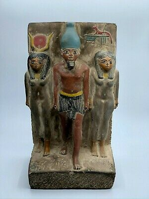 ANCIENT EGYPTIAN EGYPT ANTIQUES Statue Osiris and Nephthys and Isis 1500 BC