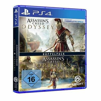 Assassins Creed Odyssey + Origines (Pack Double) PS4 Neuf + Emballage D'Origine