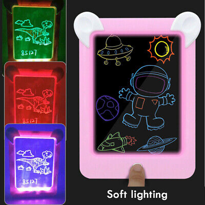3D Magic Pad Kids Toy Light Up LED Board Drawing Tablet Art Kid Christmas Gifts