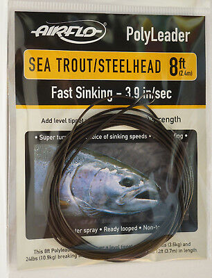 AIRFLO Polyleader BASS PIKE 4ft 1,20 Mtr EXTRA SUPER FAST SINKING