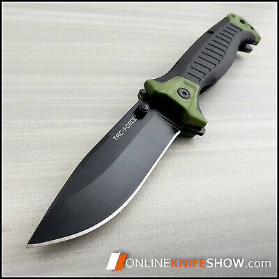 TAC FORCE SPRING ASSISTED OPEN POCKET KNIFE Tactical Folding Blade GREEN ARMY