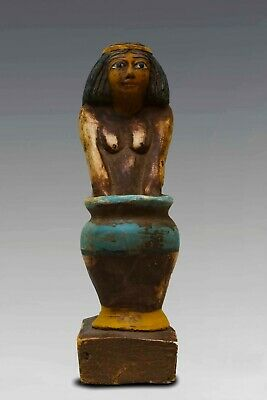 RARE EGYPTIAN EGYPT ANTIQUES Women Beer Maid STATUE PHARAOH CARVED STONE BC