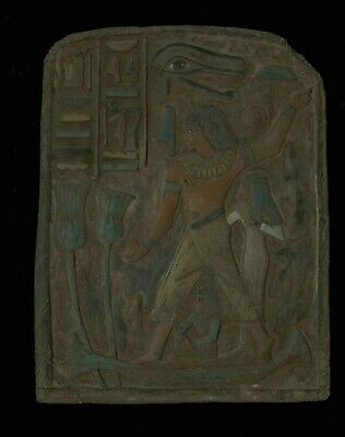ANCIENT EGYPT EGYPTIAN ANTIQUE Accountant Nebamun STELA RELIEF LIMESTONE 1350 BC