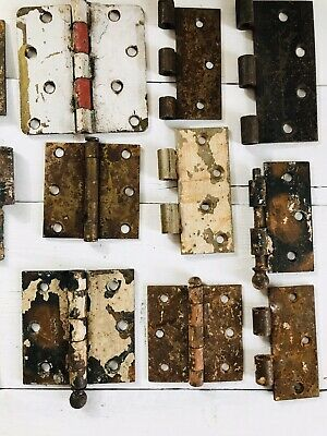 Assorted Antique CannonBall Door Hinge hardware Architectural Salvage MidCentury