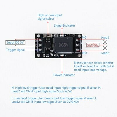 DC 5V 1-Channel Relay Module High Low Level Trigger Optocoupler Isolated Board