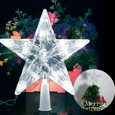 Battery Operated Five-pointed Lighted Christmas Tree Topper Star Lights W/ 10LED
