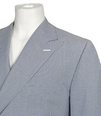 NEW Hickey Freeman Sportcoat (Blazer)! 42 Reg  Gingham Double Breasted  USA Made