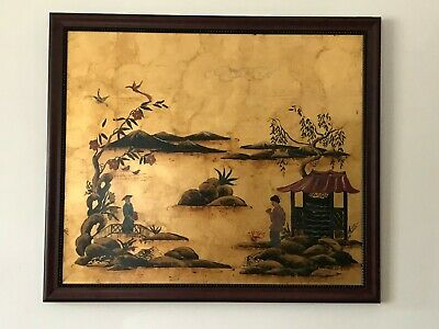 Katherine Henick Signed Original Painting on Gold Leaf Framed
