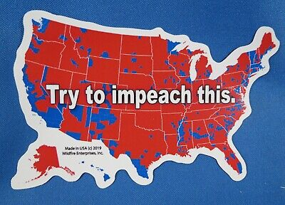 Wholesale Lot Of 20 Trump Try To Impeach This 2020 President Sticker Gop Usa Map