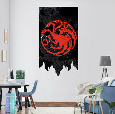 Game Of Thrones House Targaryen Flag Banner GOT Fans Gift 2.1'x3.2' Home Decor