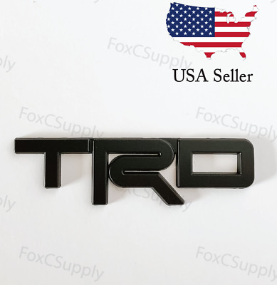 Black Emblem Badge Trunk For Toyota TRD 3D Black Metal Logo 1 x 5 Inch
