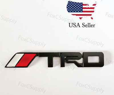 Black Emblem Badge Trunk For Toyota TRD 3D Black Metal Logo 1 x 6 Inch