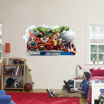 The Avengers Marvel CUSTOM PERSONALIZED NAME Decal WALL STICKER Decor Art WC141