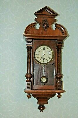Antique Junghans Wall Clock With Key And Pendulum.