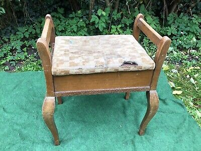 Antique Edwardian Piano Stool With Lift Top Music Storage With Music DIY Project
