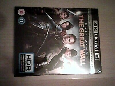The Great Wall (4K UHD BLU RAY AND DIGITAL DOWNLOAD) NEW AND SEALED