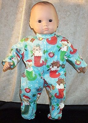 """Doll Clothes Baby Made 2 Fit American Girl 15/"""" inch Pajamas Christmas Stocking"""