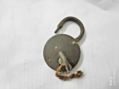 Padlock large Antique 1800 with Key Working