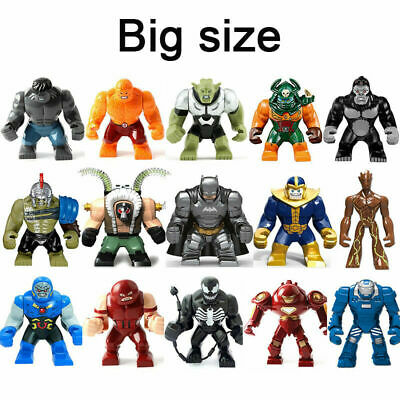 Avengers Dc Comics BIG Superhero Thanos Venom Hulk Custom Mini Figures fit Lego
