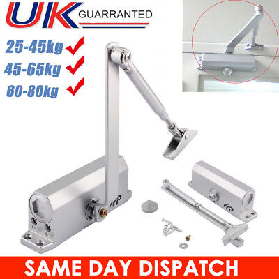 Metal Fire Rated Door Closer Automatic Overhead 3 Size For Door Weight 25-80Kg