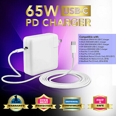 """61W Type C USB C AC Adapter Charger for MacBook Pro 13"""" 2016 2017 2018 A1708"""