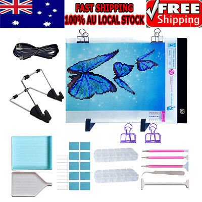 5D Diamond Painting Tools DIY Art Craft+A4LED Pad Light Board With Stand Holder