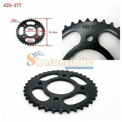 58mm Centre 37T Teeth 420 Rear Back Chain Sprocket Cog PIT PRO TRAIL DIRT BIKE