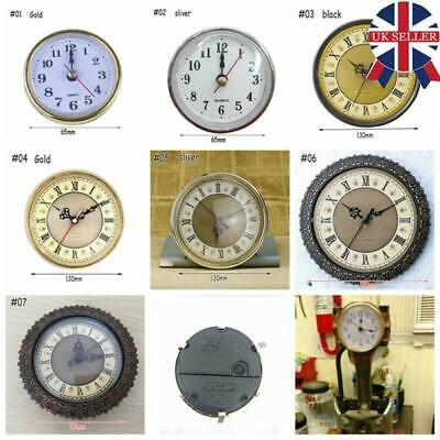 Shellhard Clock Quartz Movement Insert Roman Numeral White Face Gold Trim