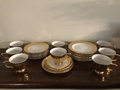 Vintage Gold Tea Cup, Saucer and Plate Set