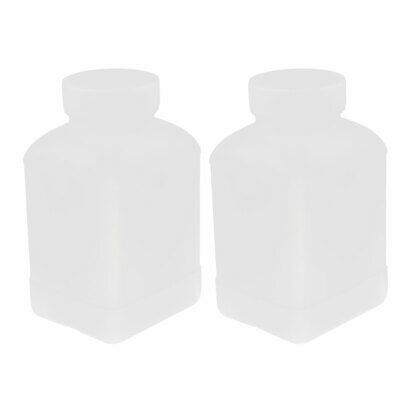 2Pcs 500ml Plastic Square Wide Mouth Chemical Sample Reagent Bottle Thickening