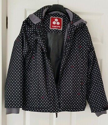 GIRLS Black & White Spot TOG24 padded SKI JACKET 11/12 YEARS
