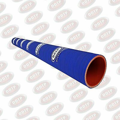 """Silicone Coolant Hose 2.50""""X36"""" (3FT) 4-Ply Blue for Heavy Duty Truck Radiator"""