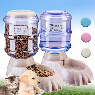 3.8L Large Automatic Pet Food Drink Dispenser Dog Cat Feeder Water Bowl Home Hot