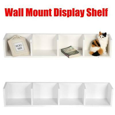2pcs 4 Cube Floating Wall Mount Shelves Book CD/DVD Storage Shelf Display White