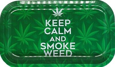 "Premium Rolling Tray ""Keep Calm and Smoke W33D"" 6.25"" x 11"""