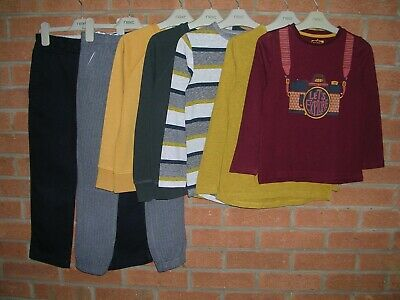Mainly NEXT Boys Yellow Plum Bundle Jeans Jumpers Tops Trousers Age 6-7 122cm
