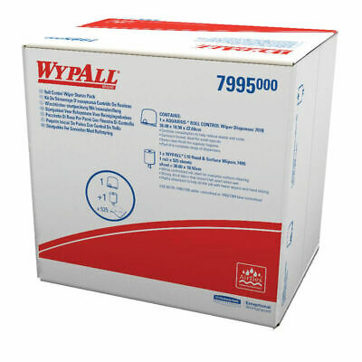 NEW! Wypall Roll Wiper Starter Pack Includes dispenser and 1 centrefeed roll 799