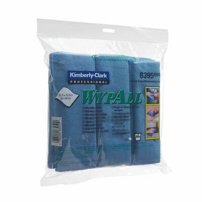 NEW! Wypall Microfibre Cloth Blue Pack of 6 8395
